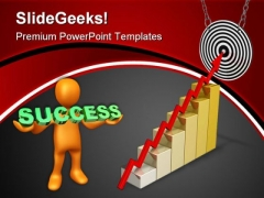 Business Arrow On Target Success PowerPoint Themes And PowerPoint Slides 0811