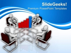 Business Bar Graph Discussion With Team PowerPoint Templates Ppt Backgrounds For Slides 0613