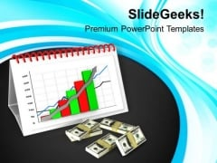 Business Bar Graph For Monthly Result PowerPoint Templates Ppt Backgrounds For Slides 0613