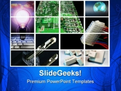 Business Collage Global PowerPoint Templates And PowerPoint Backgrounds 0811