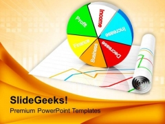 Business Concepts With Pie Chart PowerPoint Templates Ppt Backgrounds For Slides 0713