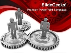 Business Cooperation Metaphor PowerPoint Themes And PowerPoint Slides 0511