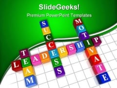 Business Crosswords Leadeship PowerPoint Templates And PowerPoint Backgrounds 0411