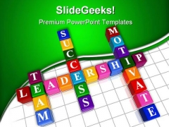 Business Crosswords Leadeship PowerPoint Themes And PowerPoint Slides 0411