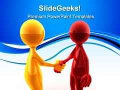 Business Deal Handshake PowerPoint Themes And PowerPoint Slides 0811