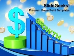 Business Dollar Graph Growth Success PowerPoint Templates And PowerPoint Themes 0712