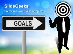 Business Goal Target Success PowerPoint Themes And PowerPoint Slides 0511