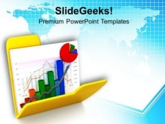 Business Graph And Chart In Folder PowerPoint Templates Ppt Backgrounds For Slides 0713