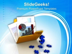 Business Graph And Chart In Folder PowerPoint Templates Ppt Backgrounds For Slides 0813