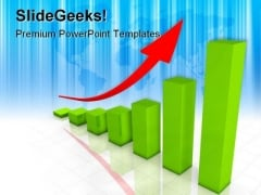 Business Graph Arrow Success PowerPoint Themes And PowerPoint Slides 0511