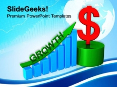 Business Graph Growth Dollar Finance PowerPoint Templates And PowerPoint Themes 0712
