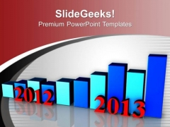 Business Growth 2012 To 2013 Bar Graph PowerPoint Templates Ppt Backgrounds For Slides 1212