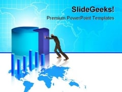 Business Growth Chart Finance PowerPoint Themes And PowerPoint Slides 0511