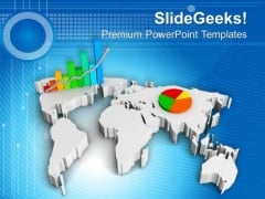 Business Growth Concept With Graph And Pie PowerPoint Templates Ppt Backgrounds For Slides 0813
