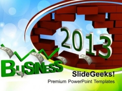 Business Growth In Upcoming 2013 Year Success PowerPoint Templates Ppt Backgrounds For Slides 1212