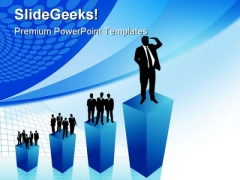 Business Growth People PowerPoint Themes And PowerPoint Slides 0411