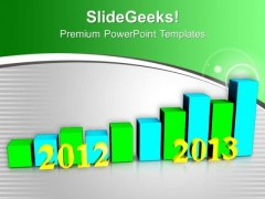 Business Growth Per Year 2012 To 2013 PowerPoint Templates Ppt Backgrounds For Slides 0113