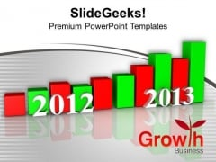 Business Growth Per Year From 2012 To 2013 PowerPoint Templates Ppt Backgrounds For Slides 1212