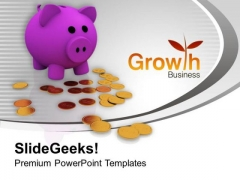 Business Growth Savings PowerPoint Templates Ppt Backgrounds For Slides 0313
