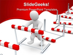 Business Hurdles Finance PowerPoint Templates And PowerPoint Backgrounds 0611