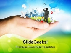 Business In Your Palm Success PowerPoint Templates And PowerPoint Backgrounds 0311