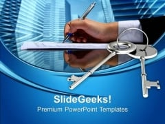 Business Key Signing Agreement PowerPoint Templates Ppt Backgrounds For Slides 0213