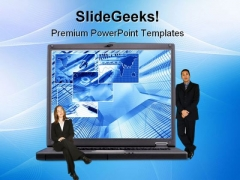 Business Laptop People PowerPoint Templates And PowerPoint Backgrounds 1011