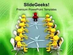 Business Leader Key Component Of Teams PowerPoint Templates Ppt Backgrounds For Slides 0613