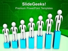 Business Man Can Grow Gradually PowerPoint Templates Ppt Backgrounds For Slides 0713