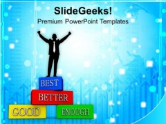 Business Man Improving Business Success PowerPoint Templates Ppt Backgrounds For Slides 0113