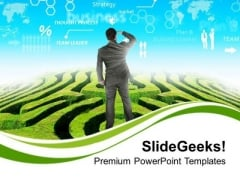 Business Man With Future Vision PowerPoint Templates Ppt Backgrounds For Slides 0313