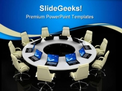 Business Meeting Computer PowerPoint Themes And PowerPoint Slides 0511