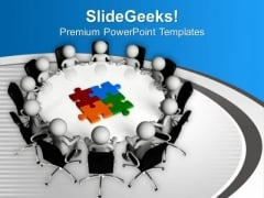 Business Meeting For Combining All Problems PowerPoint Templates Ppt Backgrounds For Slides 0713