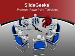 Business Meeting For Financial Matter PowerPoint Templates Ppt Backgrounds For Slides 0413