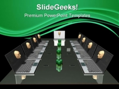Business Meeting Internet PowerPoint Themes And PowerPoint Slides 0611