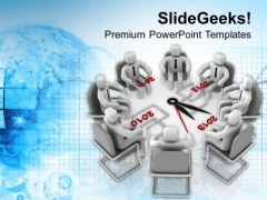Business Meeting Of New Development Planning PowerPoint Templates Ppt Backgrounds For Slides 0513