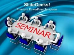 Business Men Attending Seminar Meeting PowerPoint Templates Ppt Backgrounds For Slides 0313