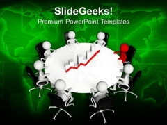 Business Men Discussing Sales Growth PowerPoint Templates Ppt Backgrounds For Slides 0713
