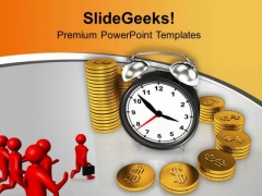 Business Men Running To Achieve Target PowerPoint Templates Ppt Backgrounds For Slides 0313