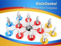 Business Network Communication PowerPoint Templates And PowerPoint Backgrounds 1011