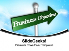 Business Objectives Arrows PowerPoint Templates And PowerPoint Themes 1012