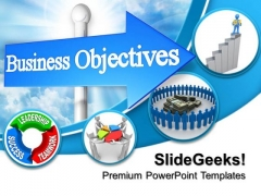 Business Objectives Career Finance PowerPoint Templates And PowerPoint Themes 1012