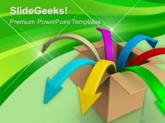 Business Opportunities Coming Out Of Box PowerPoint Templates Ppt Backgrounds For Slides 0613