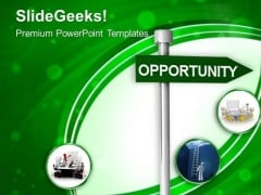 Business Opportunity Signpost PowerPoint Templates Ppt Backgrounds For Slides 0213