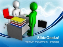 Business Partners Agreed On A Deal PowerPoint Templates Ppt Backgrounds For Slides 0713