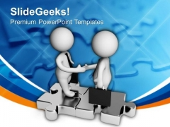 Business Partnership In Planning PowerPoint Templates Ppt Backgrounds For Slides 0613