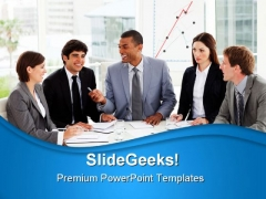 Business People Discussion Success PowerPoint Themes And PowerPoint Slides 0911