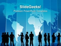 Business People Global PowerPoint Templates And PowerPoint Backgrounds 0711