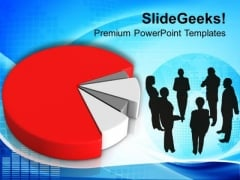 Business Pie Chart Strategy PowerPoint Templates Ppt Backgrounds For Slides 0413