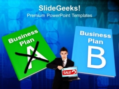 Business Plan A And Plan B PowerPoint Templates And PowerPoint Themes 1012